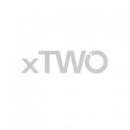 HSK Walk In Easy 1 - Walk In Easy 1 with swiveling side part and side wall 900/1000/350 x 2000 mm, 01 aluminum silver matt, 100 Glasses art center