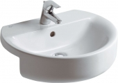 Ideal Standard Connect - Semi-recessed washbasin 550 mm