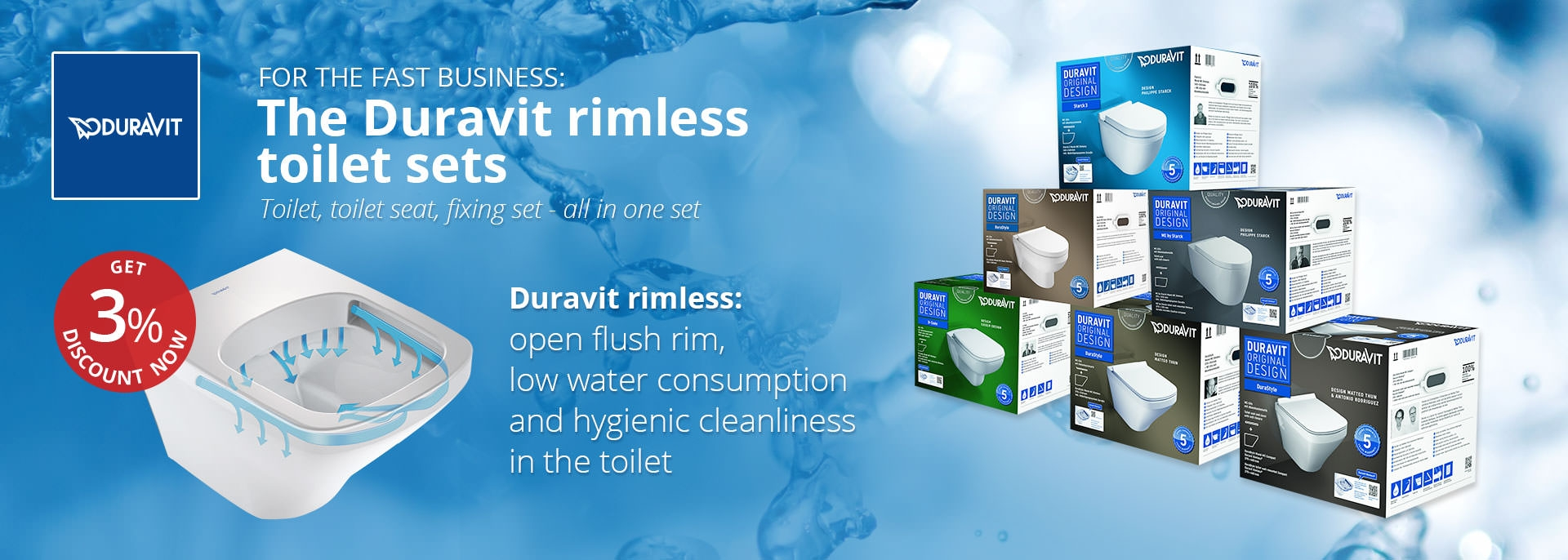 Duravit Rimless WC-Sets at xTWOStore