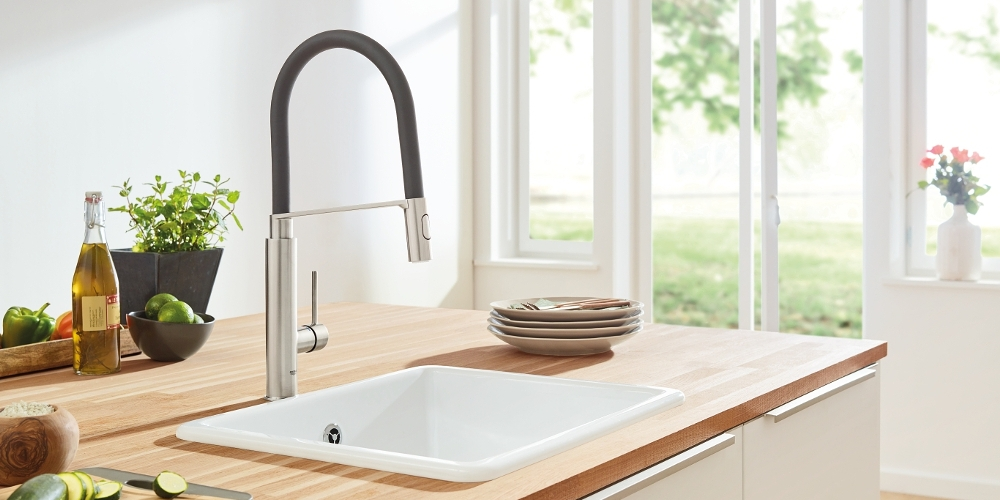Grohe Concetto kitchen faucet extendable