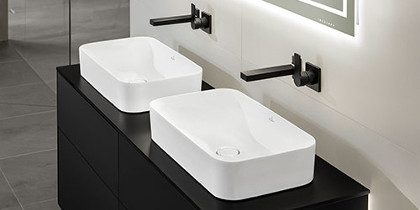 Villeroy und Boch Finion built-on washbasin