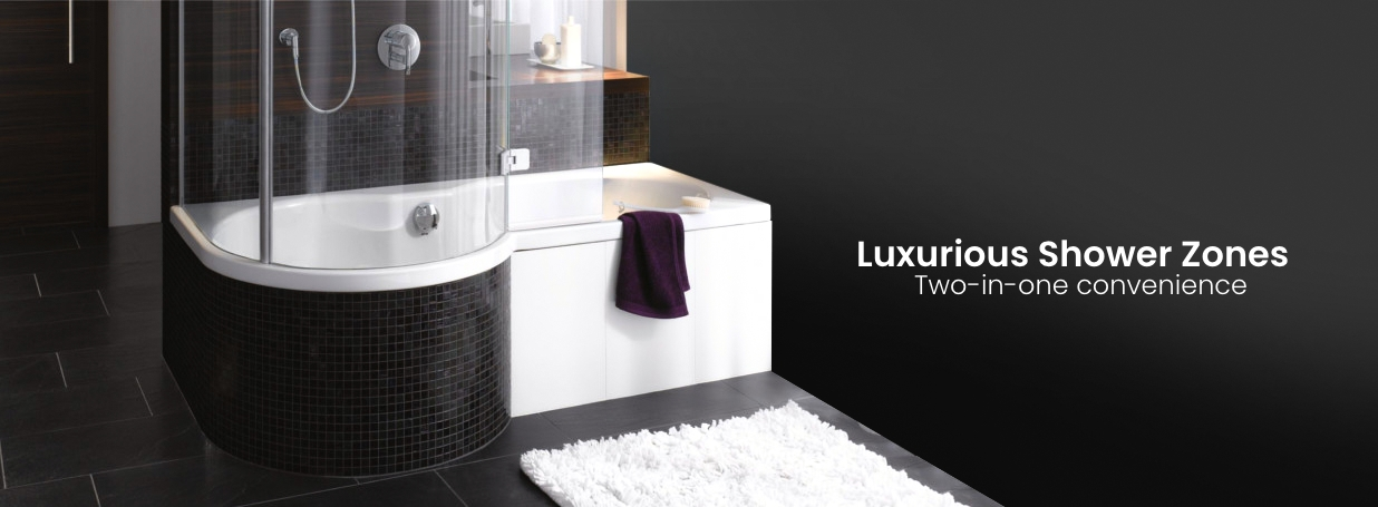 Bette Ronda bathtub with shower zone at xTWOstore